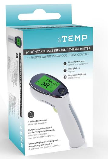 Image of 1TEMP 3in1 kontaktloses Infrarot Thermometer (1 Sec)