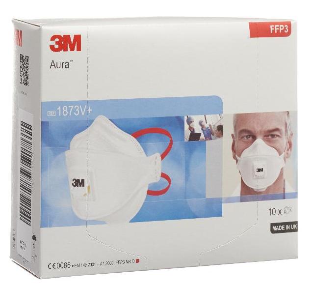 Image of 3M Atemschutz Maske FFP3 mit Ventil 1873V+ (10 Stk)
