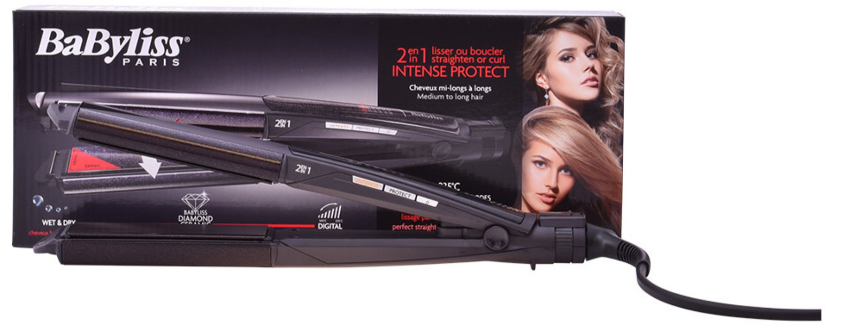 Image of BaByliss 2 in 1 Intense Protect Glätteisen