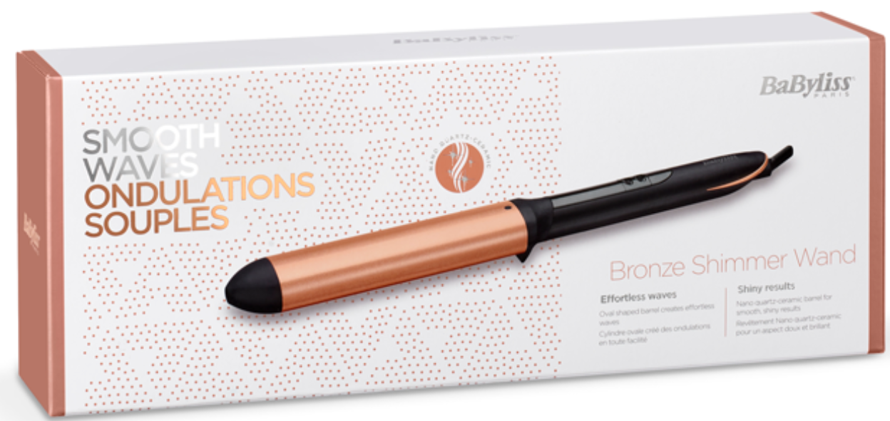 Image of BaByliss Bronze Shimmer Wand Lockenstab
