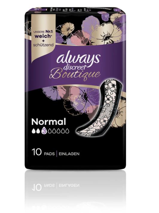Image of Always Discreet Boutique Inkontinenz Einlagen Normal (10 Stk)