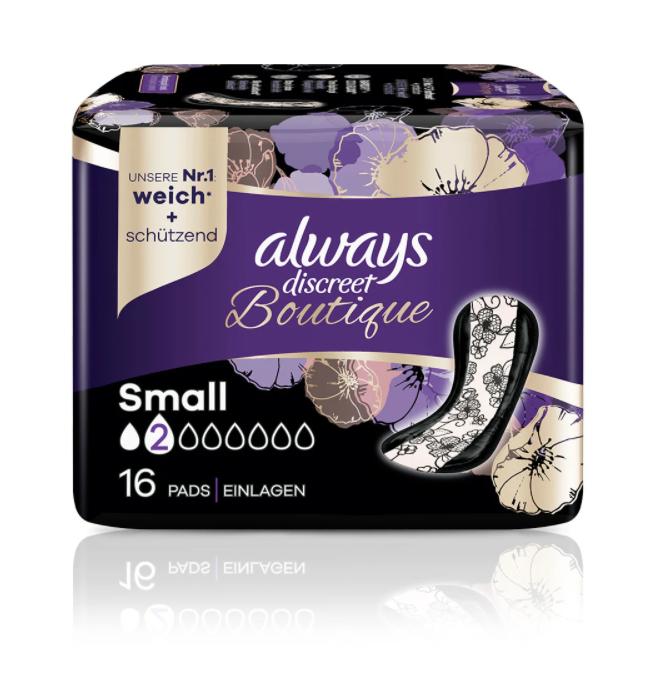 Image of Always Discreet Boutique Inkontinenz Einlagen Small (16 Stk)