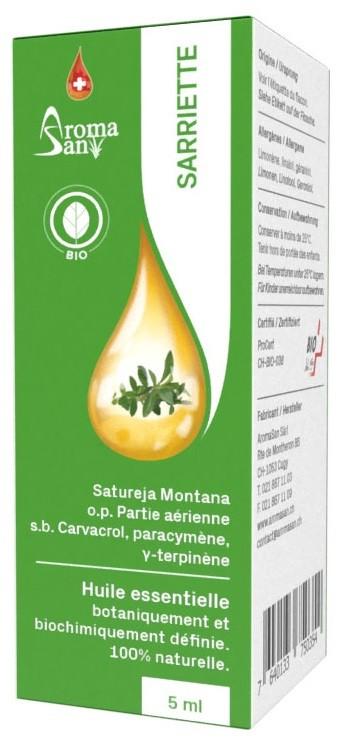 Image of AromaSan Bergbohnenkraut Bio Ätherisches Öl (5ml)