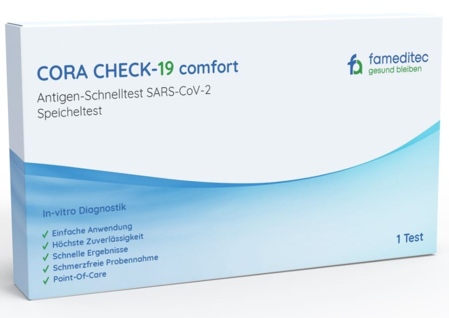 Image of CORA CHECK-19 comfort Antigen Speichel-Schnelltest (1 Stk)