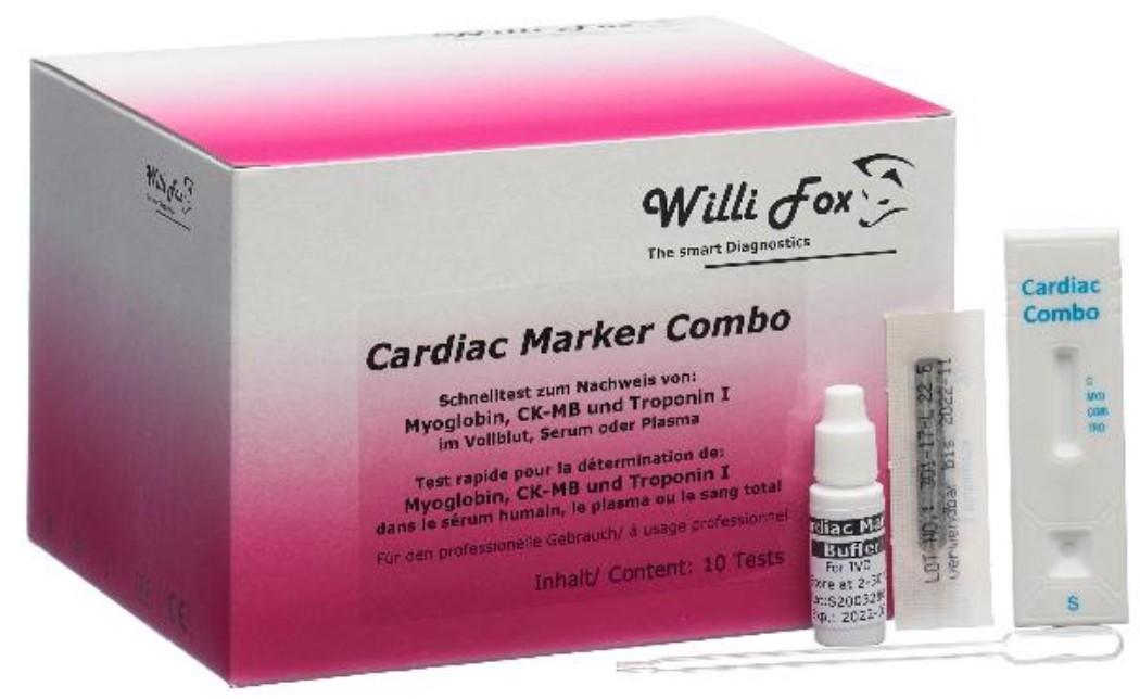 Image of Willi Fox Cardiac Marker Combotest (10 Stk)