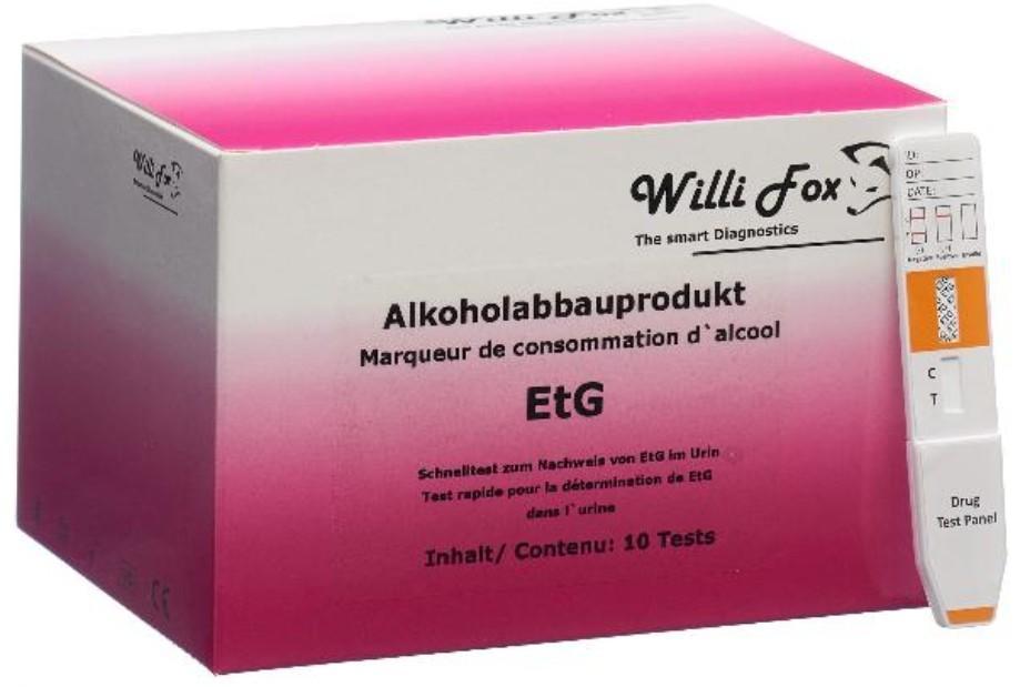 Image of Willi Fox Alkoholabbauprodukt EtG Test (10 Stk)