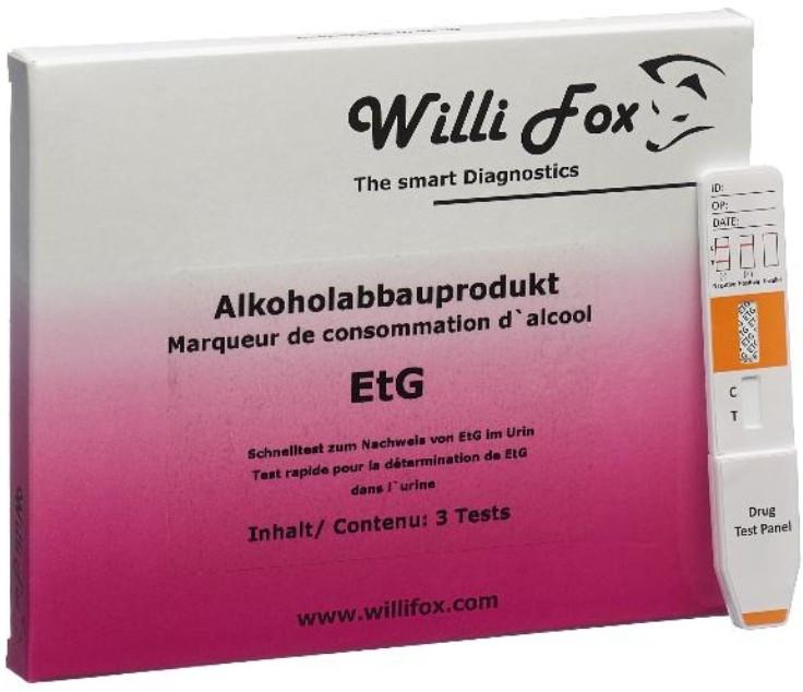 Image of Willi Fox Alkoholabbauprodukt EtG Test (3 Stk)