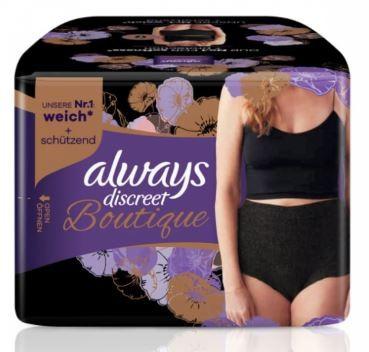 Image of Always Discreet Boutique Schwarze Inkontinenz Pants L (8 Stück)