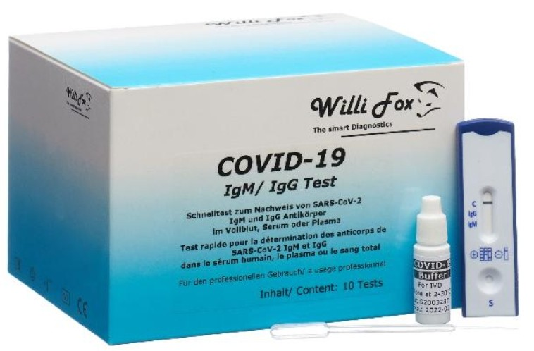 Image of Willi Fox COVID-19 Schnelltest (10 Stk)