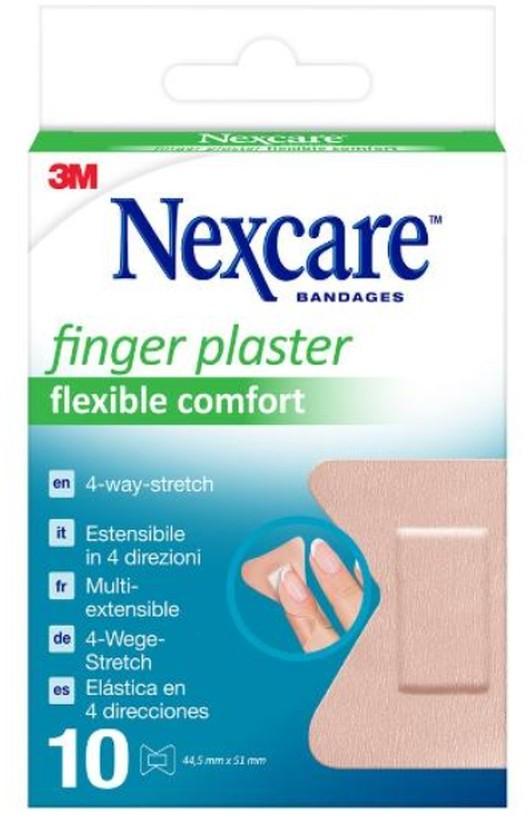 Image of 3M Nexcare BANDAGES Fingerpflaster Flexible Comfort 4.45x5.1cm (10 Stk)