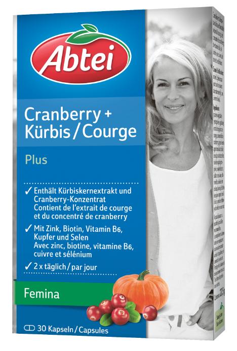 Image of Abtei Cranberry + Kürbis Plus (30 Stk)