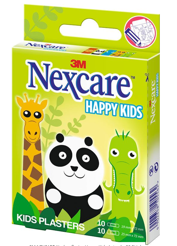 Image of 3M Nexare Kinderpflaster Happy Kids Animals (20 Stk)