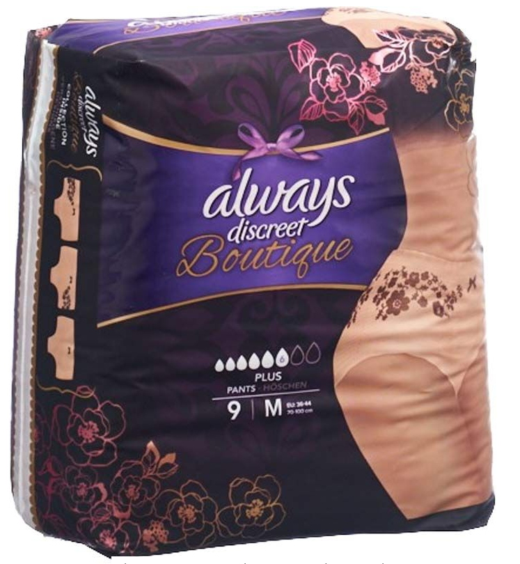 Image of Always Discreet Boutique Inkontinenz Pants Plus M (9 Stk)