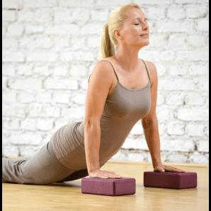 Sissel Yoga Block Bordeaux (1 Stk)
