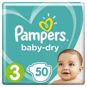 Pampers - Baby Dry Gr.3 6-10kg (50 Stk)
