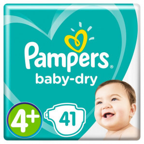 Pampers - Baby Dry Gr.4+...