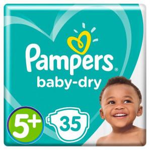 Pampers - Baby Dry Gr.5+ 12-17kg (35 Stk)