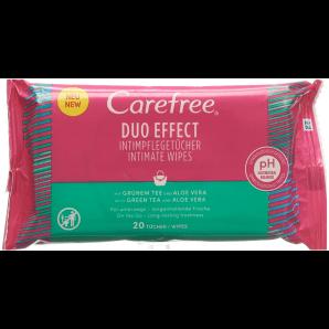 Carefree Intimpflegetücher Grüntee & Aloe (20 Stk)