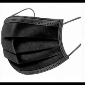Einweg-Mundschutz schwarz Typ IIR (50 Stk)
