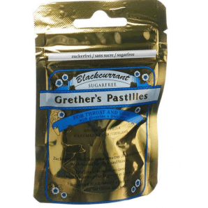 Grether's Pastilles Blackcurrant zuckerfrei (30g)