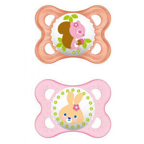 MAM original silicone soother 0-6M Girl (2 pieces)