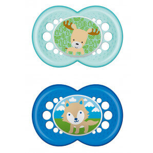 MAM original silicone soother 6-16M Boy (2 pcs)