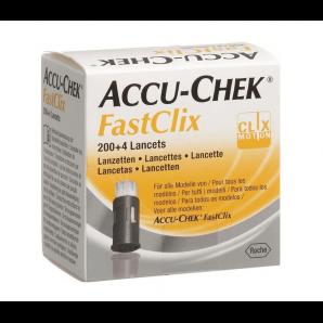 Accu-Chek FastClix (PI-APS) des lancettes (200 + 4 pièces)
