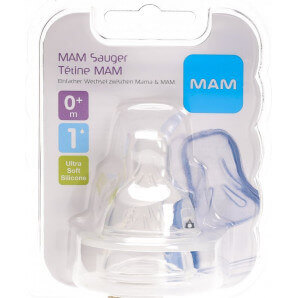 MAM replacement teat bottle size 1 0+M (2 pieces)