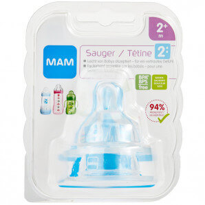 MAM replacement teat bottle size 2 2+M (2 pieces)