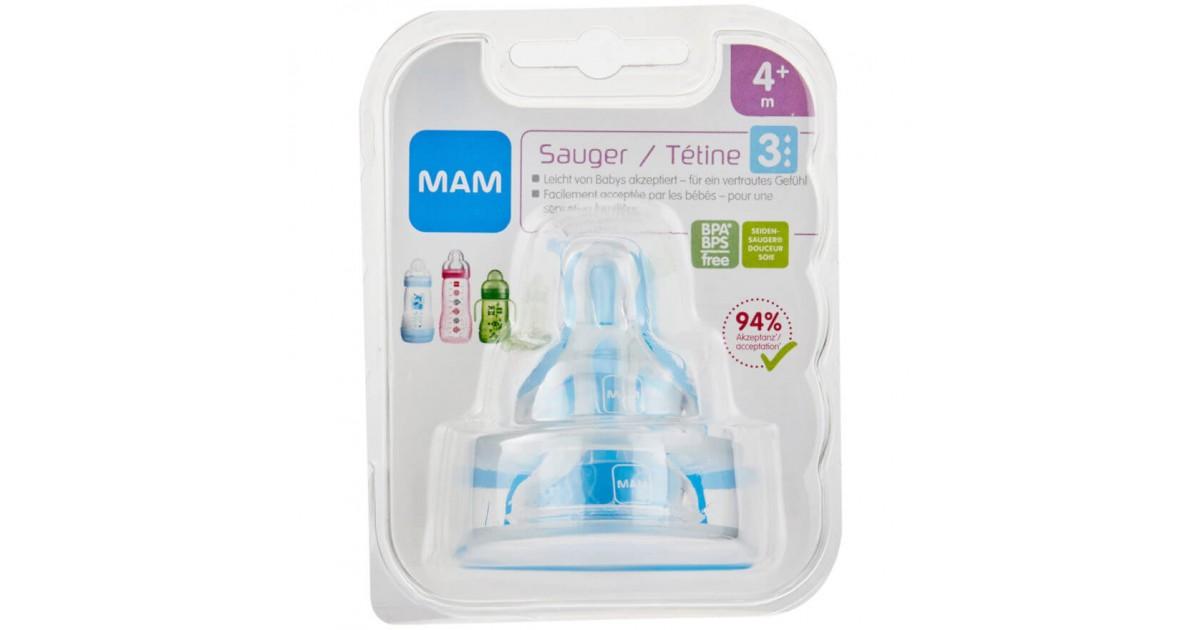 MAM - Ersatzsauger Flasche Gr.3 4+M (2 Stk)