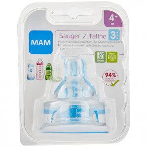 MAM Ersatzsauger Flasche Gr.3 4+M (2 Stk)