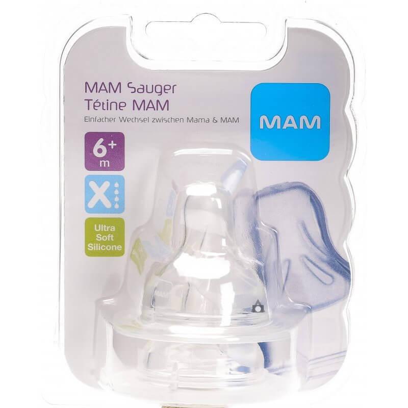 MAM - Ersatzsauger Flasche Gr.X 6+M (2 Stk)