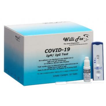 WILLI FOX COVID-19 IgM / IgG rapid test (10 pieces)
