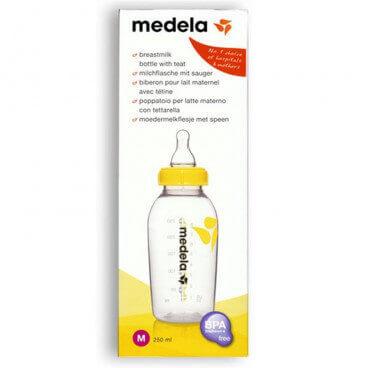 Medela - Milchflasche mit Sauger M 4-6M (250ml)