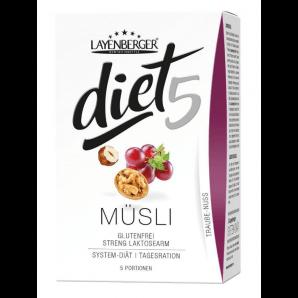 Layenberger diet5 muesli grape-nut (5x45g)