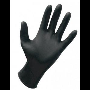 CLEANGUARD Nitril Handschuhe, Grösse L, schwarz, puderfrei (100 Stk)