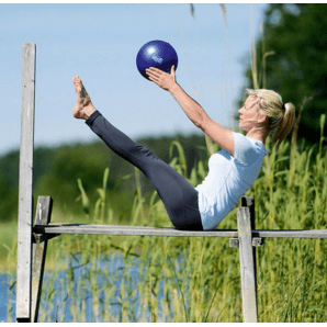 Sissel Pilates Soft Ball 22cm (blau)