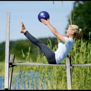 Sissel Pilates Soft Ball 22cm (bleu)