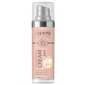 Lavera Tinted Moisturising Cream 3in1 Q10 -Ivory Rose 00- (30ml)