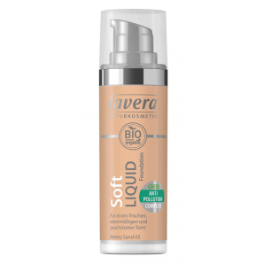 Lavera Soft Liquid Foundation -Honey Sand 03- (30ml)