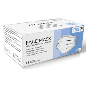 TECT masque facial médical type IIR (50 pièces)