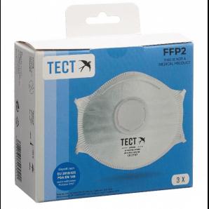 TECT FFP2 Atemschutzmaske mit Ventil (3er Pack)