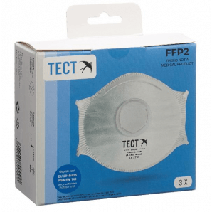 TECT FFP2 respirator with valve (pack of 3)