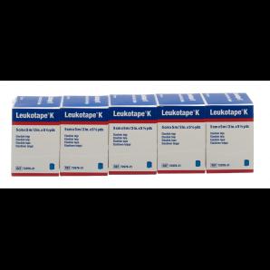 Leukotape K plaster bandage blue (5m x 5cm, 5 pieces)