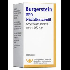Burgerstein EPO des capsules d'huile d'onagre (180 pièces)