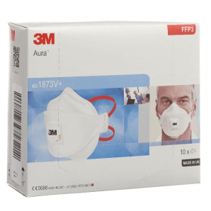 3M Atemschutz Maske FFP3 mit Ventil 1873V+ (10 Stk)