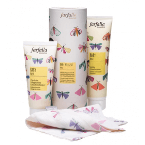 Farfalla Baby Rose care set with wash mitt