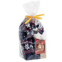 Aromalife gift set fireplace crackles with socks