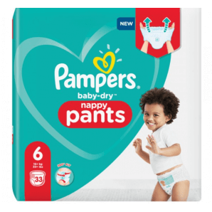 Pampers Baby Dry Pants size 6 15 + kg XL (33 pieces)