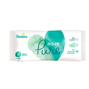 Pampers wet wipes Aqua Travelpack (12 pieces)
